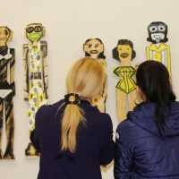 До виставки увійшли роботи чотирьох київських митців: Олени Придувалової, Бориса Фірцака, Олексія Аполлонова та Олексія Белюсенко.
