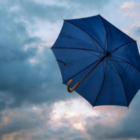 парасоля, вітер, небо