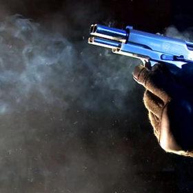 пистолет, выстрел