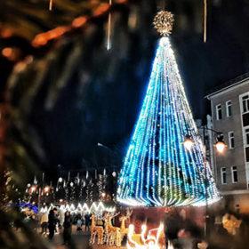 Ялинка на Різдвяному ярмарку у Хмельницькому