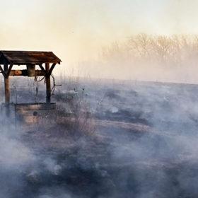 колоец, туман, погода