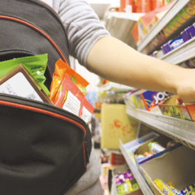 супермаркет, воровство