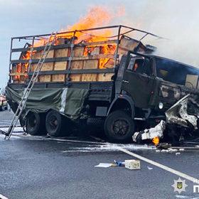 ДТП на Хмельниччині за участі військового автомобіля