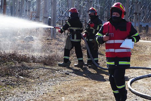 Рятувальники здійснили розвідку місця виникнення пожежі, приступили до гасіння та захисту сусіднього обладнання.