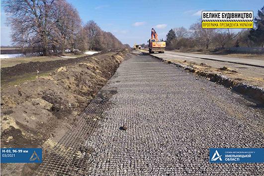 На Хмельниччині капітально ремонтують ще одну ділянку автошляху