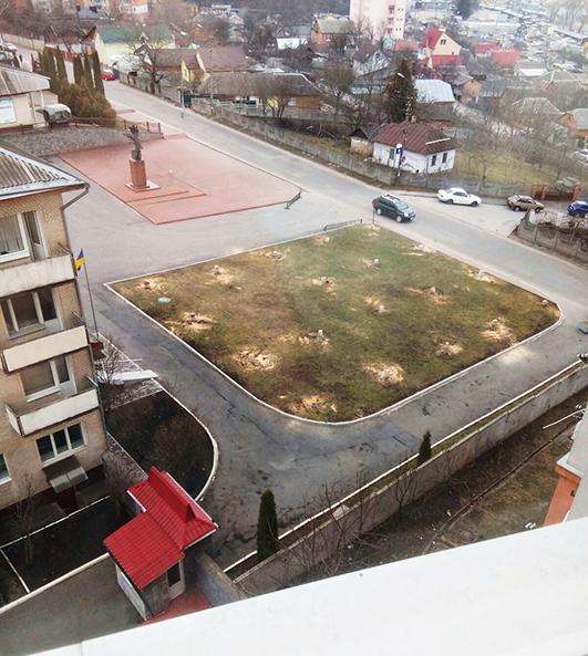 Був сад на вулиці Героїв Чорнобиля у Хмельницькому