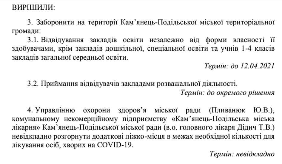 Рішення Кам'янець-Подільської міської комісії ТЕБ і НС