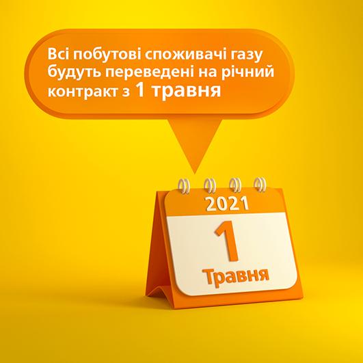 Перехід на базовий річний тариф відбудеться з 1 травня автоматично.