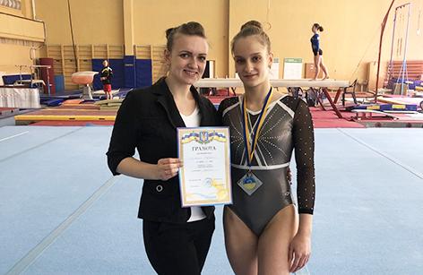 Маргарита Козловська - срібна призерка чемпіонату України зі спортивної гімнастики
