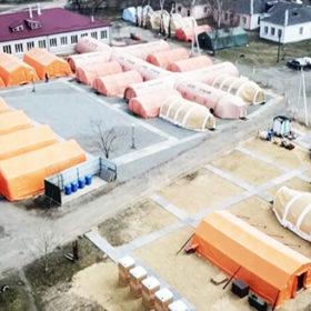 Мешканці Славути відреагували на появу мобільного госпіталю у місті