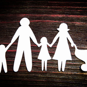 a paper chain family symbolizing loneliness or a dreamworld a paper chain family symbolizing loneliness or a dreamworld