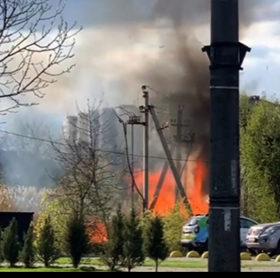 пожежа в центрі Хмельницького