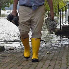 hurricane flooded street