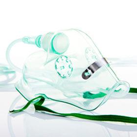 Oxygen mask on white