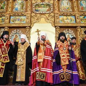 У Хмельницькому Митрополит Епіфаній освятив новий храм та представив нового керуючого єпархією