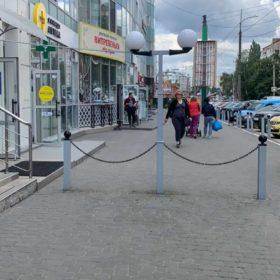 перекритий тротуар