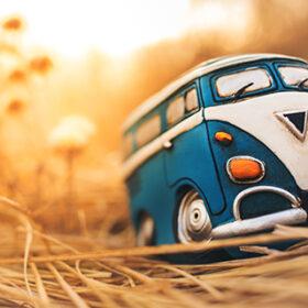 Vintage travelling miniature van