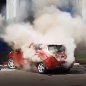 пожежа електромобіля