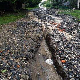 розмита вулиця після дощу