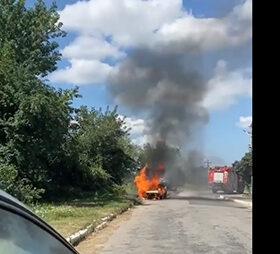 пожежа авто в Деражні