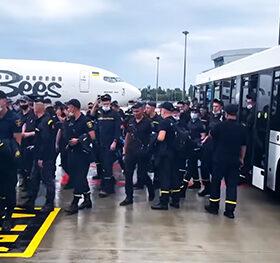 рятувальники летять у Грецію