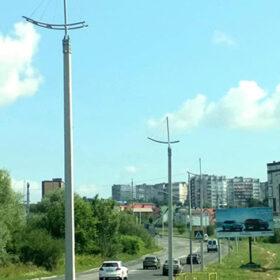 нові світильники на вулиці Бандери