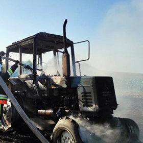 згорів трактор