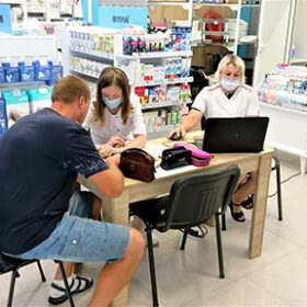 центр вакцинації в гіпермаркеті Епіцентр