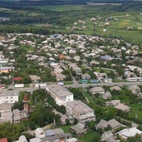 місто Городок з висоти пташиного польоту