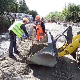 будівництво дороги у Старокостянтинові