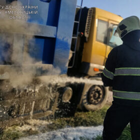 пожежа вантажівка
