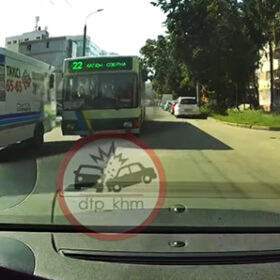 перегони на вулиці Зарічанській за участі автобуса