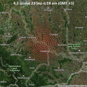 карта землетрусу в Україні