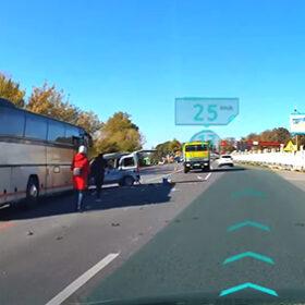 ДТП з автобусом та легковиком