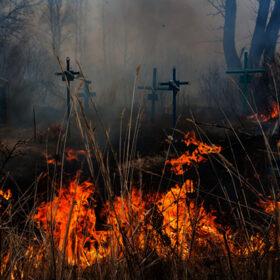 пожежа на кладовищі